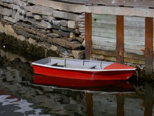 Red boat in Halifax