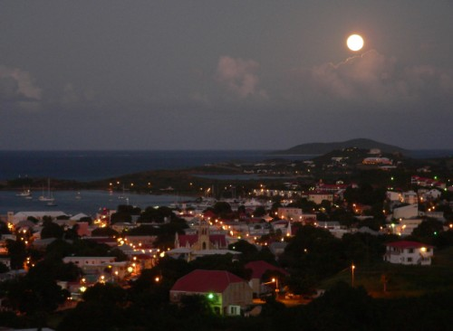 Christiansted Harbor, Full Moon
